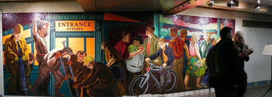 Mosaic Mural at the 42nd St Subway Station
