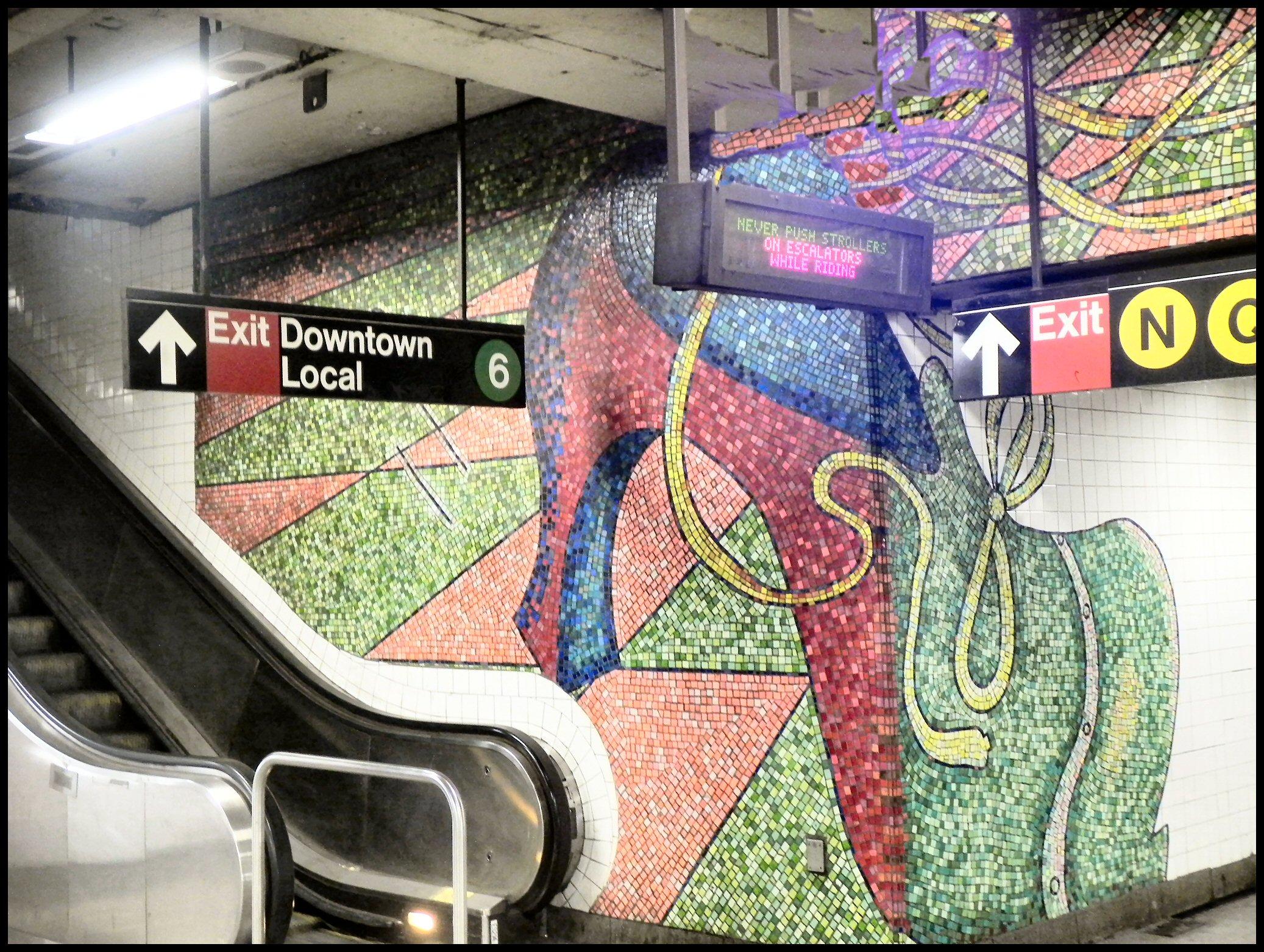 Elizabeth Murray's Mural at 59th Street Subway Station