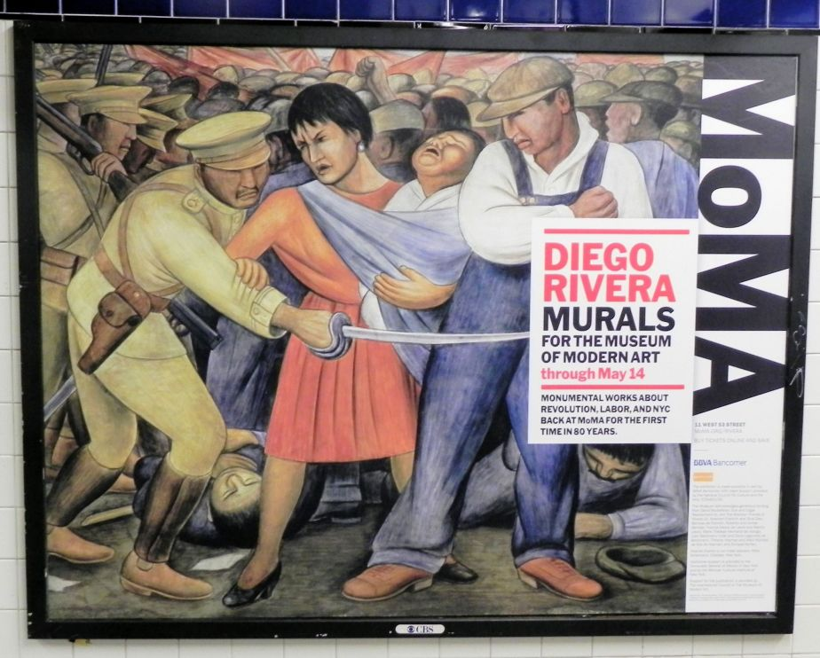 Diego rivera murals on display at moma old woman on a for Diego rivera mural new york