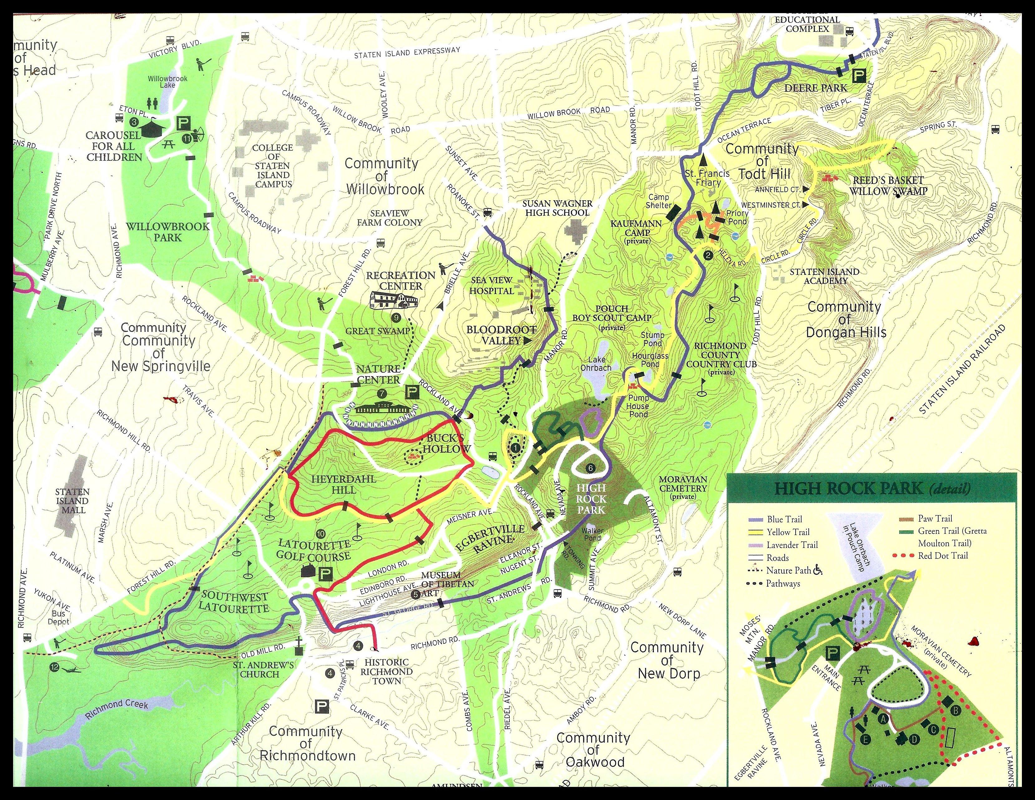 Map Of Greenbelt Trail Long Island