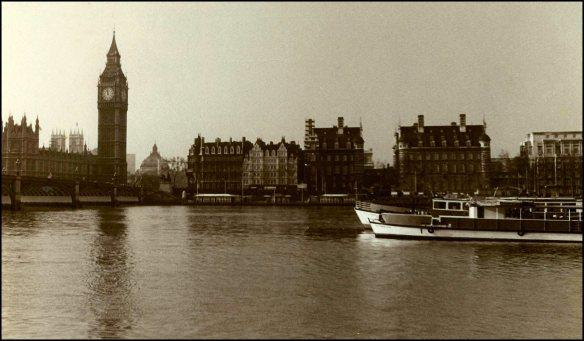 My Photo of The Thames River and Big Ben in London (1983)