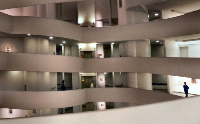 Frank Lloyd Wright's Guggenheim Museum (2010).  Interior.