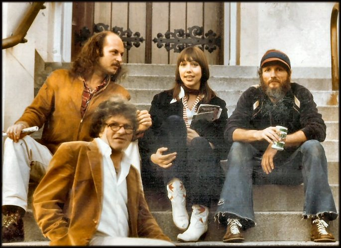These were acquaintances of mine at this time.  Man on the low left is the poet Gregory Corso.  They were sitting in front of the Church