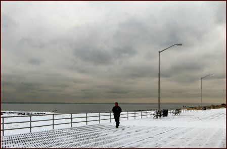 Winter on the FDR Boardwalk in Staten Island