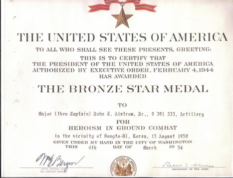 BronzeStarCertificate