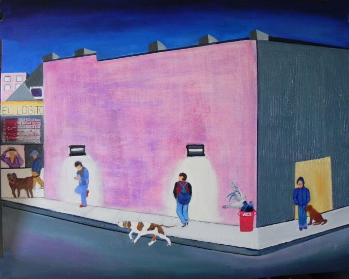 "My painting ""Anderson Avenue"" 24"" x 30"" oil on canvas."