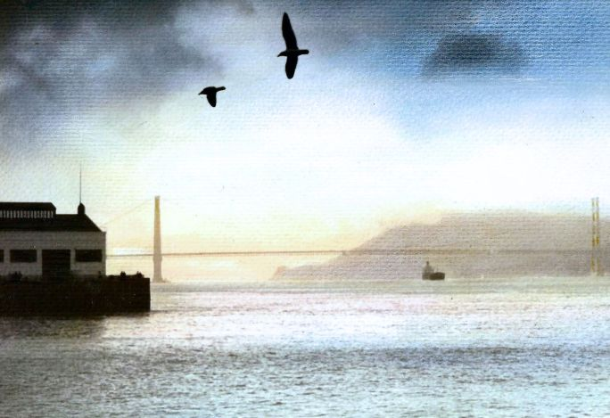 San Francisco Bay (1980) hand tinted.