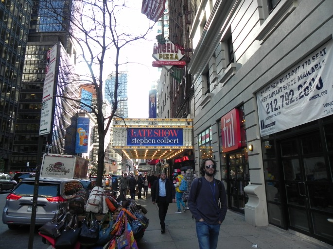 The theater on Broadway where Stephen Colbert has his show.