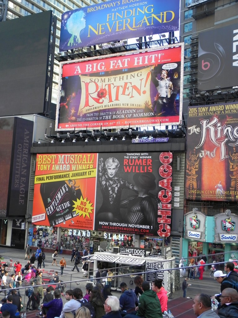 I love the big theater posters. After 30 years in NYC, I still find Times Square exciting.  However, the Broadway theater has out-priced me.