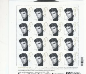 The new Elvis stamp. Sheet made to look like a record album.