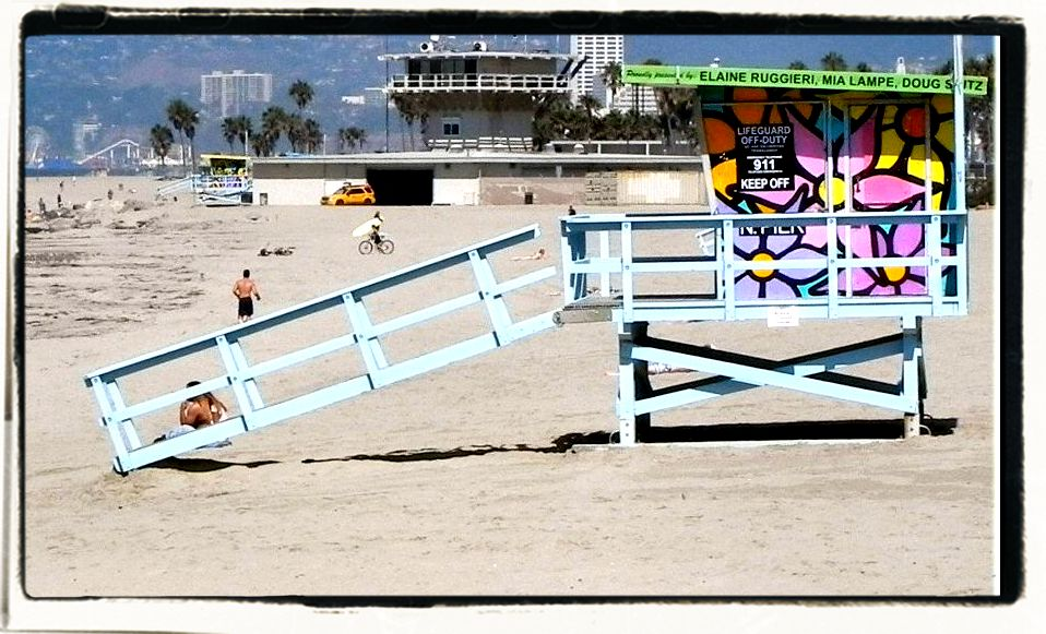 Life Guard Station on Beach in Venice